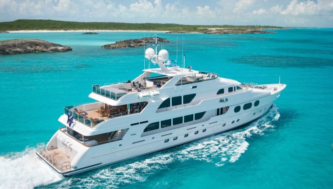 LADY JOY superyacht available in the Bahamas
