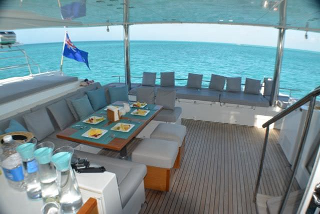 Lovely deck areas on board