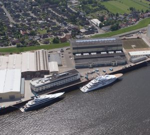 125m (410ft) mega yacht PROJECT GAJA under construction in Northern Europe