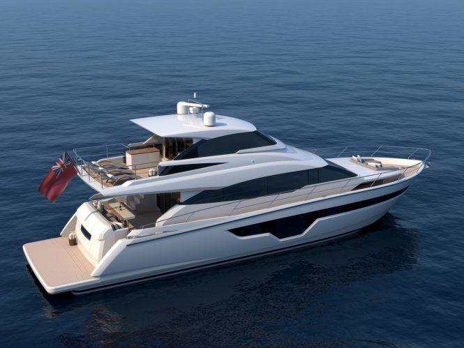 Luxury yacht Johnson 70