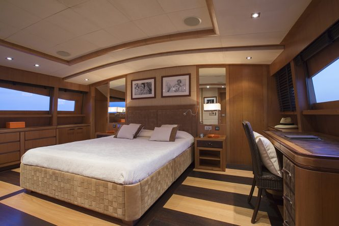 Master stateroom with great views