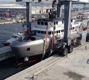 43-metre CdM Superyacht AUDACE launched in Ancona