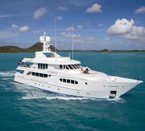 35m yacht BRUNELLO offering 15% off charter vacations in the Caribbean