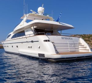 26m EFMARIA yacht offering 8 days for the price of 7 in Greece