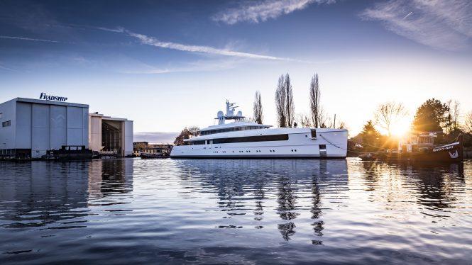 NAJIBA superyacht - Photo © Feadship