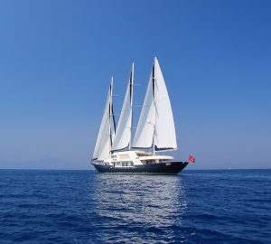 50m sailing yacht MEIRA offering special July rates in Croatia and Montenegro