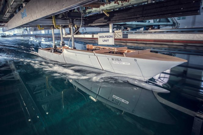 PROJECT COSMOS TANK TEST - Photo © Heesen Yachts