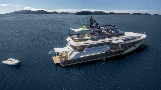 RAGNAR at anchor with tender - © MCP Yachts