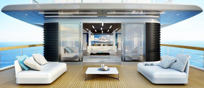 RSY 35m Exterior Living area - Rendering © Telegram71