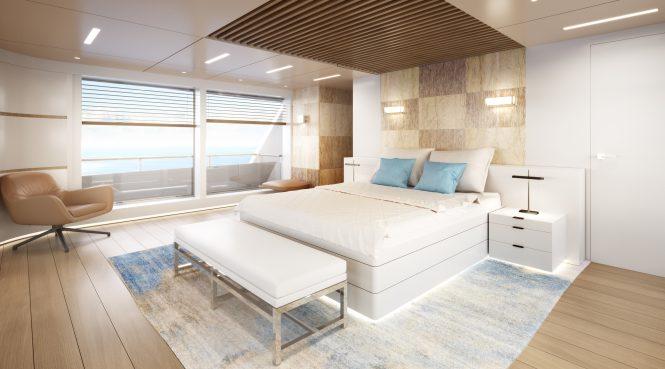 RSY 35m Master suite - Rendering © Telegram71