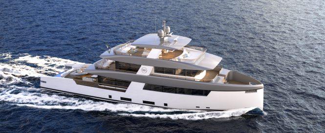RSY 35m SVY Ceccarelli explorer yacht - Rendering © Telegram71