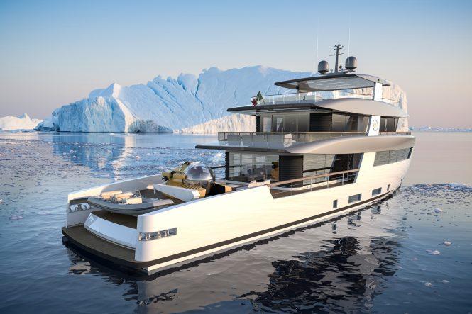 RSY 35m SVY Ceccarelli superyacht - Rendering © Telegram71