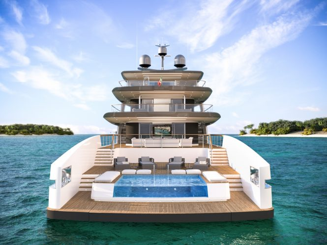 RSY 50m aft view with pool