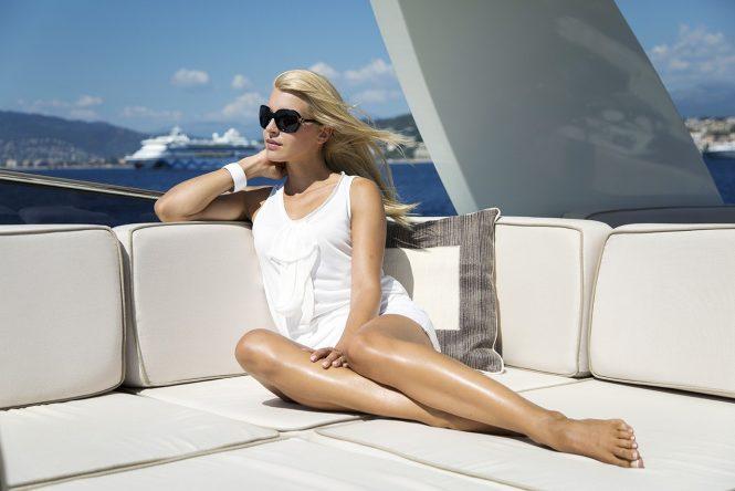 Relaxing in luxury on board