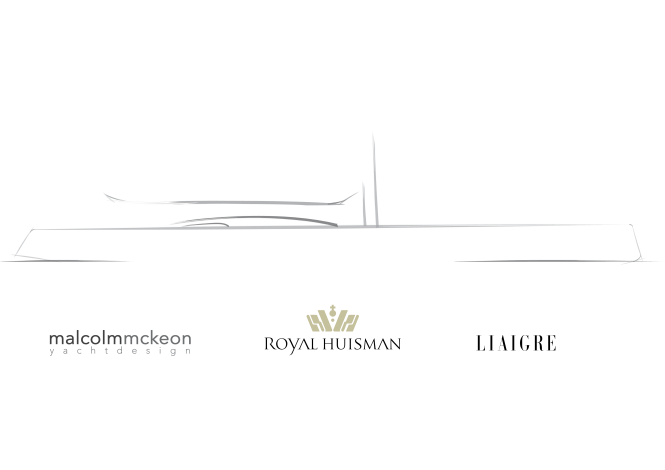 Sailing Yacht Project 404 Sketch Profile