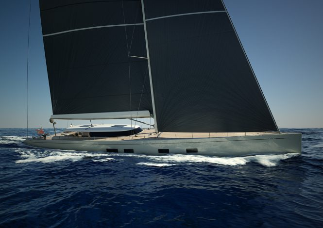 Sailing yacht CANOVA under construction at Baltic Yachts - rendering
