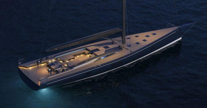Sailing yacht RP-Nauta 100 - Rendering Deck