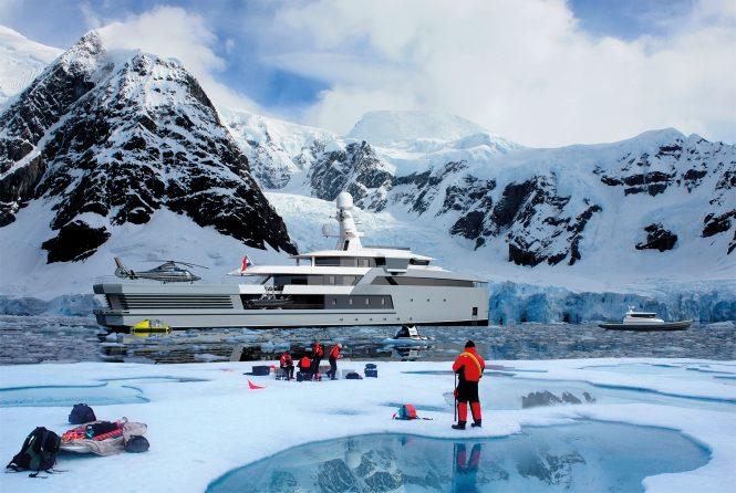 SeaXplorer 65m in Antartica rendering