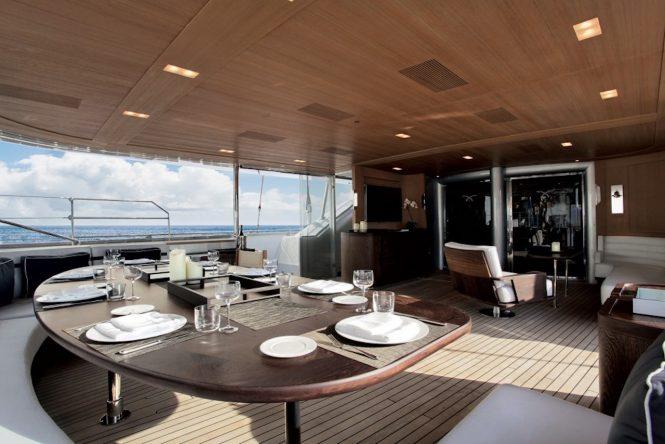 Spacious aft deck area