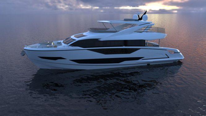 Sunseeker Project 8x yacht