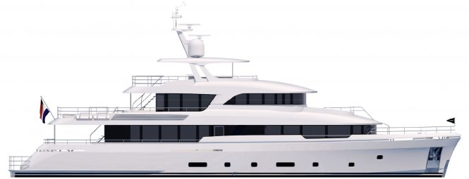 YN199 motor yacht from Moonen Martinique Series