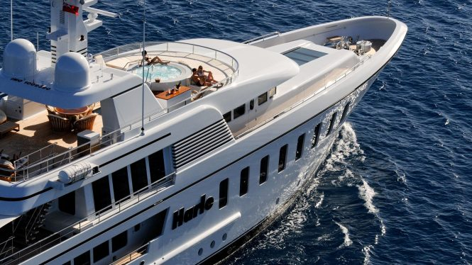 Yacht HARLE by Feadship - Sundeck Underway in the Caribbean