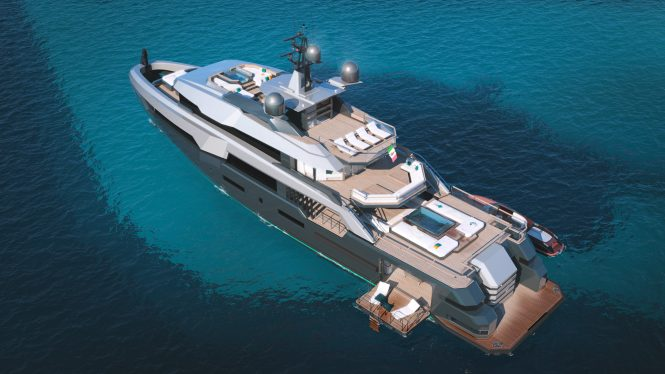 aerial view of the yacht 'K47 TAXILA'