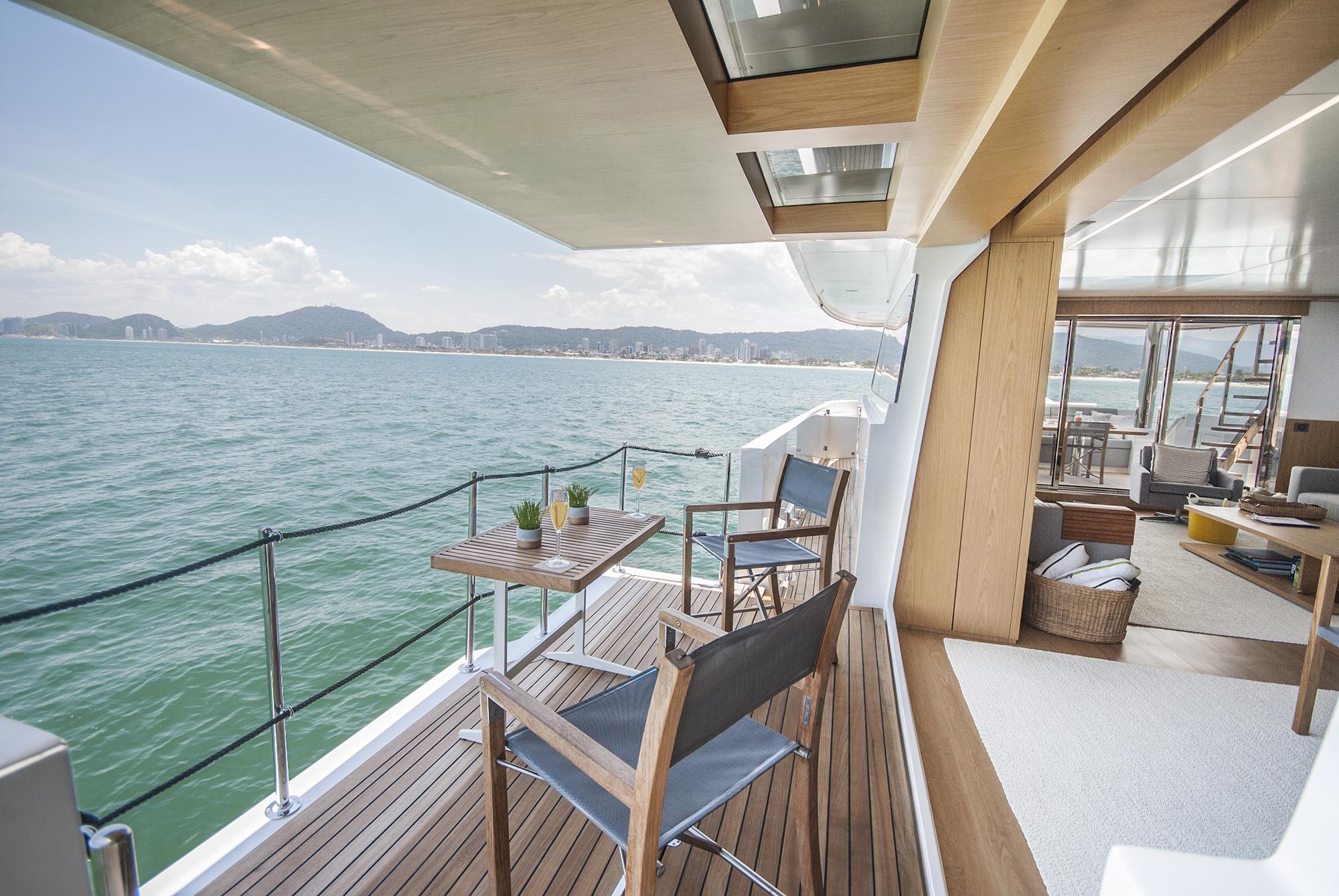 balcony from saloon - © MCP Yachts