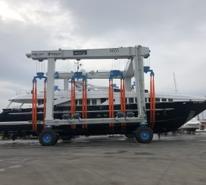 Motor yacht Let it Be M receives refit at KRM Yacht facilities