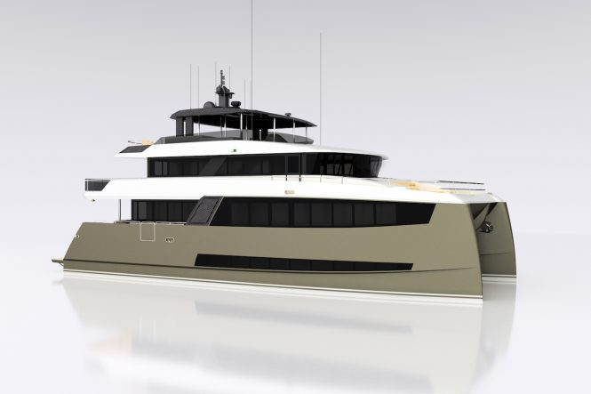 25m (84ft) H2OME catamaran yacht by Amasea Yachts