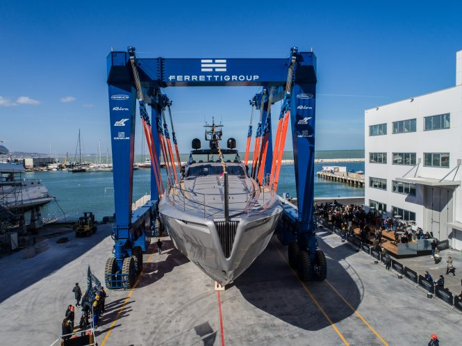 About to be launched in Ancona - Pershing 140
