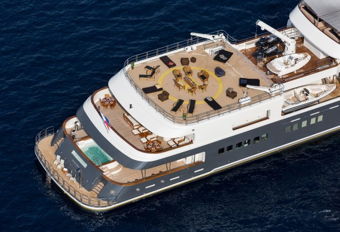 Amazing deck areas aboard LEGEND