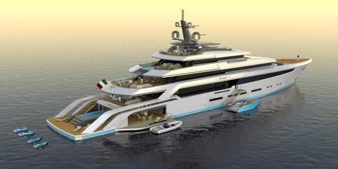 BEYOND 82M mega yacht by Christopher Seymour