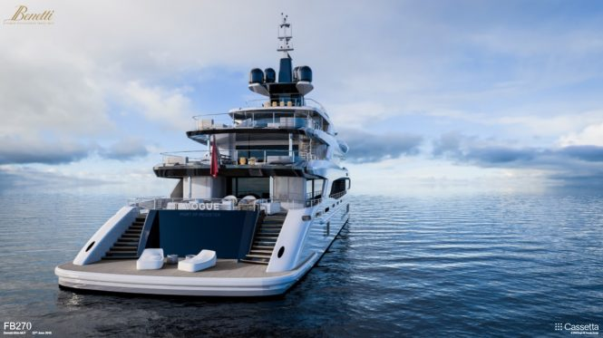 Benetti FB270 superyacht project VOGUE - beach club