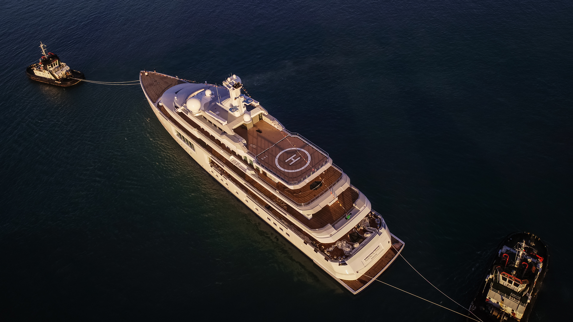 Benetti FB272 aerial view - Photo © Benetti