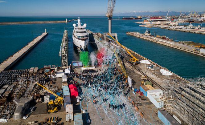 Benetti FB272 launched in Italy - Photo ©Benetti