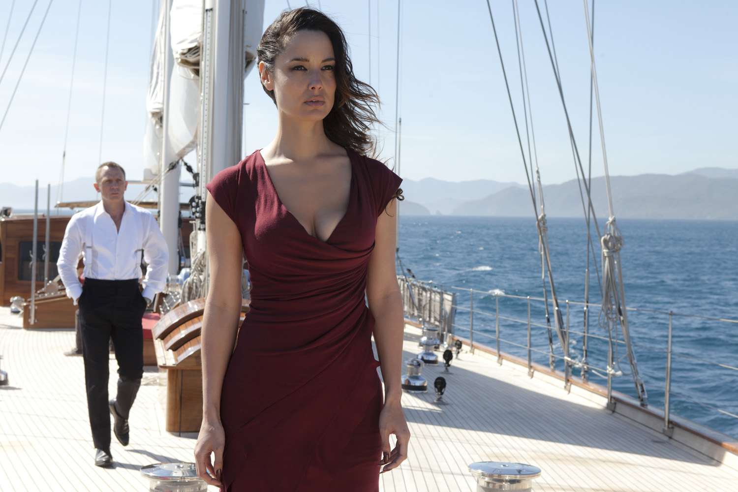 Berenice Marhole and Daniel Craig in the James Bond Movie - Skyfall - aboard luxury yacht REGINA - © Columbia Pictures and Twentieth Century Fox Home Entertainment 2012