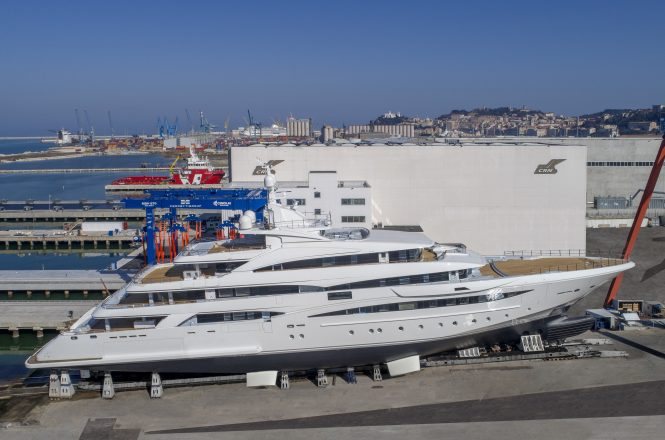 CRN 135 superyacht ready for launch - Photo © CRN Yachts