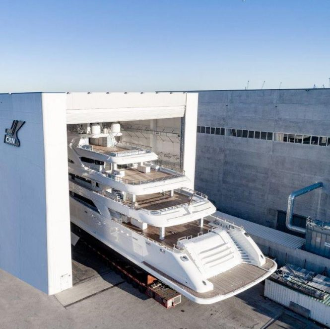 CRN getting ready to launch superyacht CRN 135 - Photo © CRN Yachts