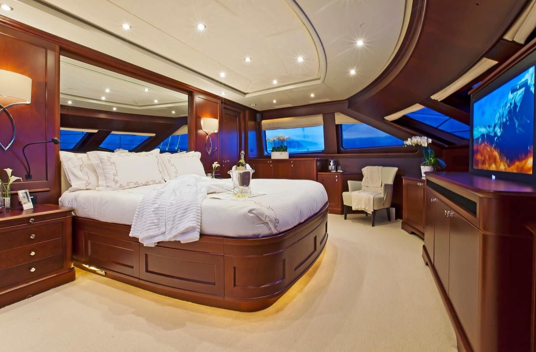 Classically styled, elegant master suite with great views