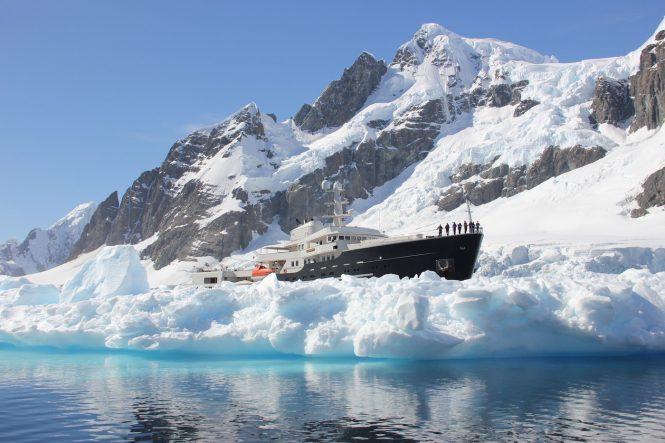 Expedition yacht LEGEND in Antarctica - Photo © Nicolas Benazeth : CharterWorld.com