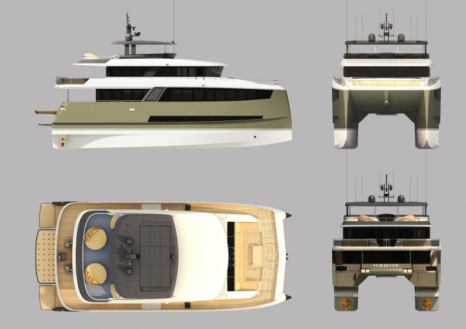 H2OME catamaran yacht by Amasea Yachts