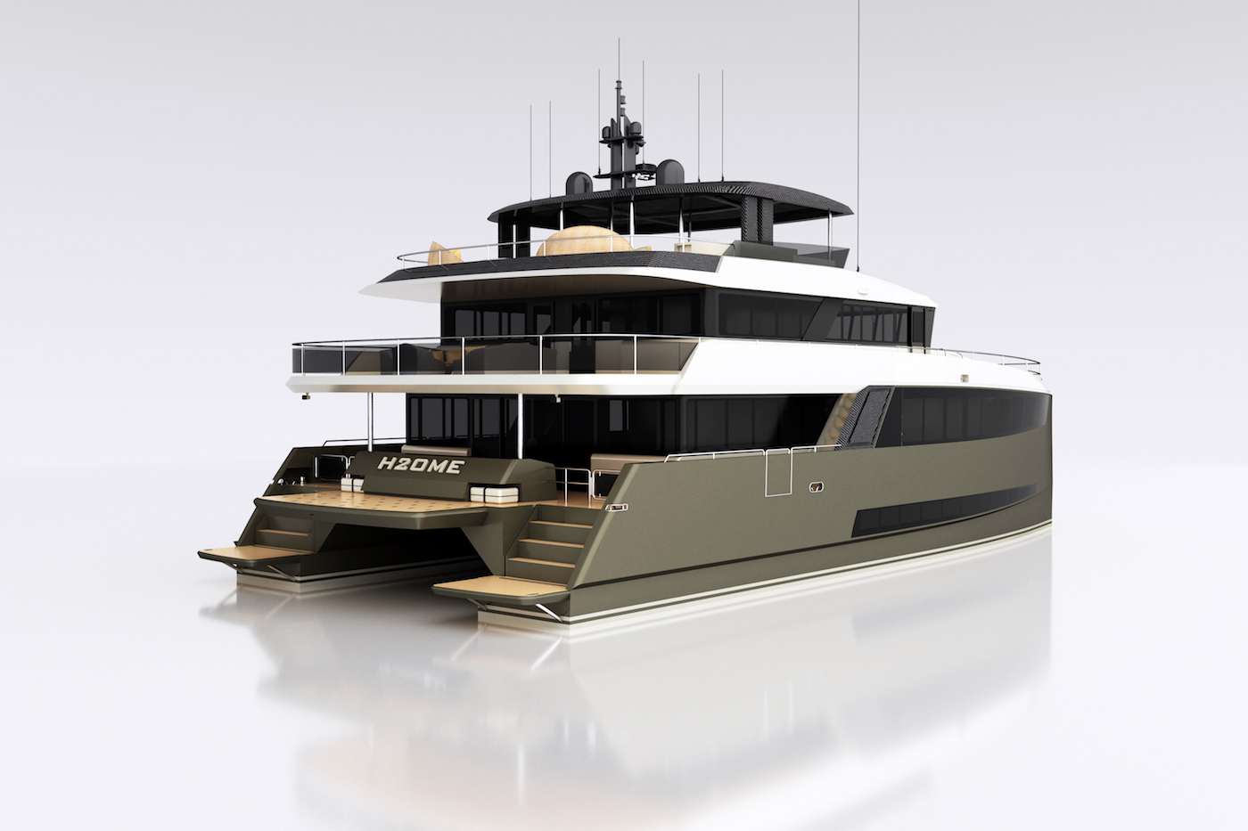 H2OME catamaran yacht by Amasea Yachts - exterior