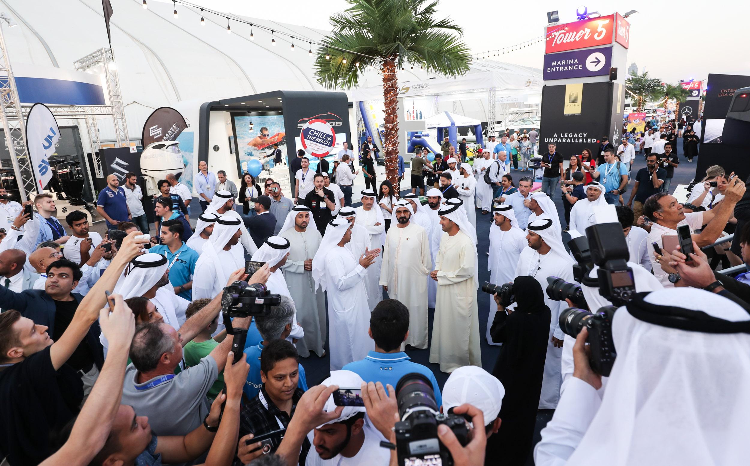 His Highness Sheikh Mohammed bin Rashid Al Maktoum at the DIBS 2018