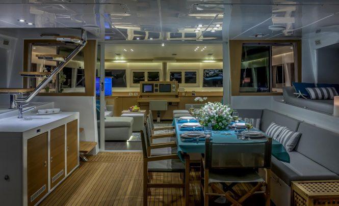 Inviting interior and exterior deck areas