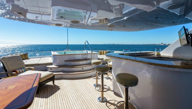 Jacuzzi hot tub on board