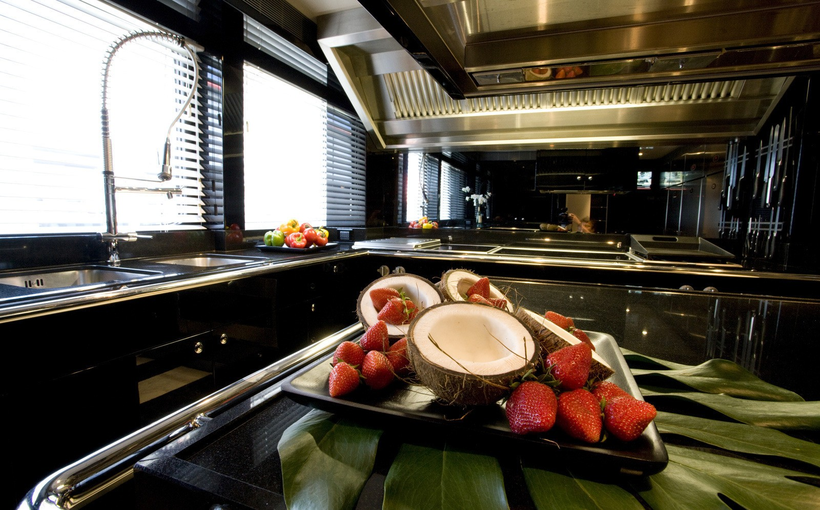Large galley where your personal Chef will prepare delicious dishes according to your taste