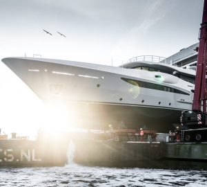 AMLES 180 superyacht hull 473 launched by Amels
