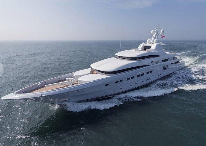 Luxury mega yacht SECRET