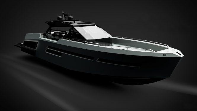 MAZU82 yacht - rendering - © Mazu Yachts